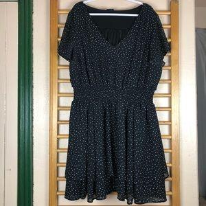 torrid Dresses - Torrid BW Polka Dot Georgette Skater Dress